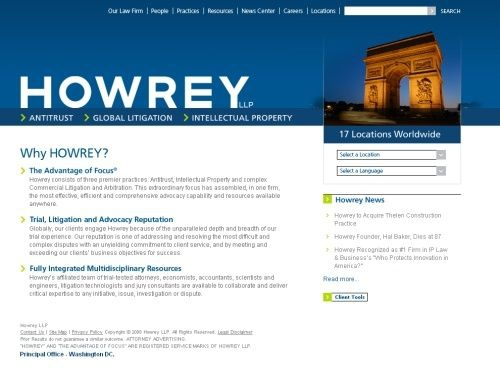 The website of the former Howery LLP