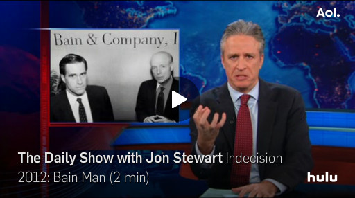 Mitt Romney Hypocrisy Attacked by Jon Stewart on the Daily Show