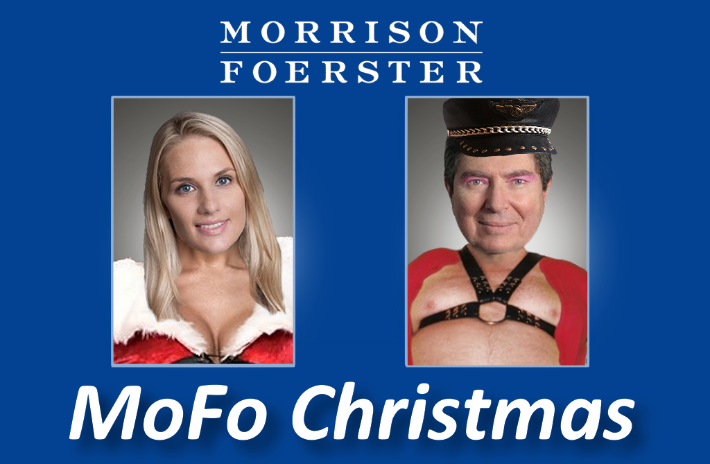 Morrison Foerster's Christmas starring Jennifer Marines Esq and #WifeBeater Ex Judge James Peck