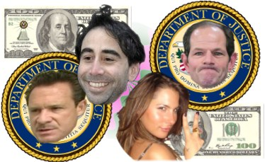 Connections among Paul Bergrin, Eliot Spitzer, Ashley Dupre, and Jason Itzler