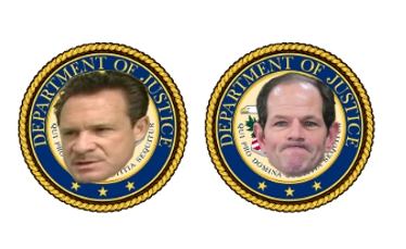 Paul Bergrin and Eliot Spitzer are two fallen former prosecutors of the DOJ