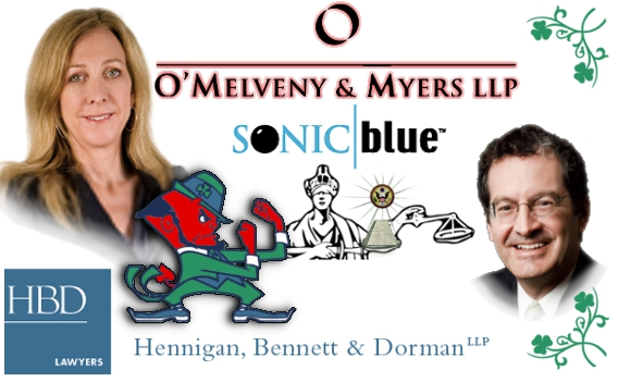 Suzzanne Uhland intertwined with Bruce Bennett and Dewey LeBoeuf team in SONICblue misconduct
